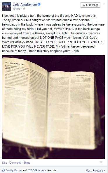 Сгоревший автобус и библия