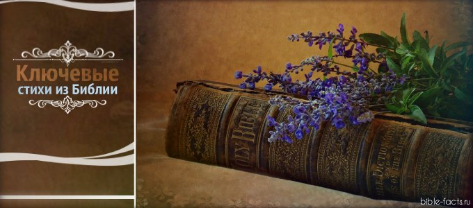 Ключевые стихи из Библии