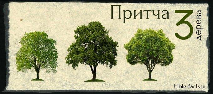 Христианская притча про три дерева