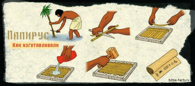 Как изготавливали папирус в библейские времена