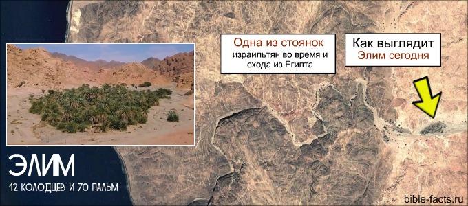Как сегодня выглядит Элим, где останавливались Израильтяне после исхода из Египта