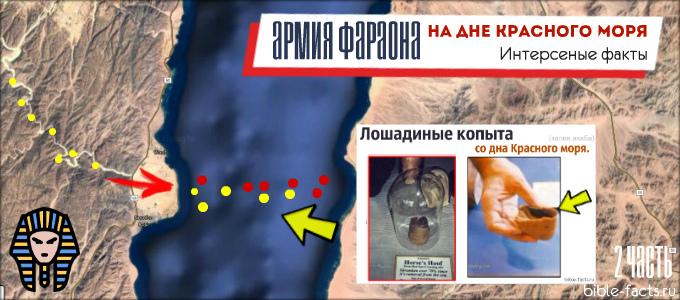Армия Фараона на дне красного моря - новые интересные факты